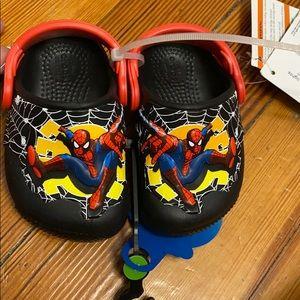 Kids Spider-Man light-up crocs size 4c
